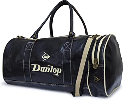 tijeras plan de estudios Oponerse a  Dunlop - Bolsa Deportiva Para Gimnasio, Diseño Retro, Color Negro:  Amazon.es: Zapatos y complementos