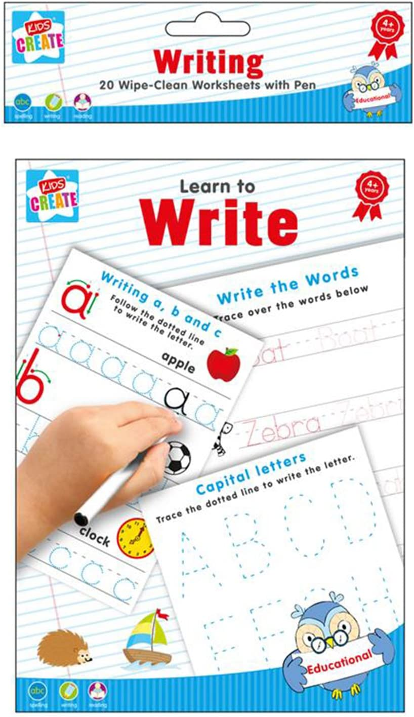 - Amazon.com : Learn To Write - Spelling Writing & Reading 20 Wipe