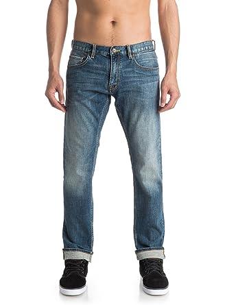 934502368c80d Quiksilver Revolver Medium Blue - Straight Fit Jeans for Men ...