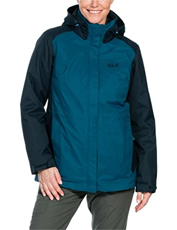 Jack Wolfskin Damen 3 in 1 Jacke Amply Jacket