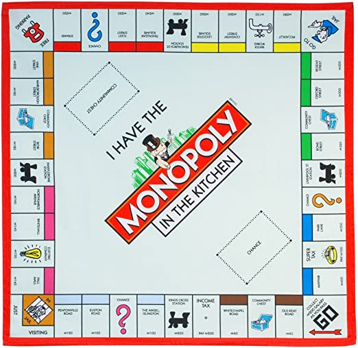 Gift Republic - Mantel, diseño de Tablero de Monopoly: Amazon.es: Hogar