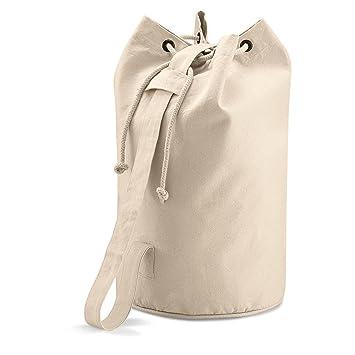 QUADRA NATURAL 100% COTTON CANVAS DUFFLE BAG: Amazon.co.uk: Luggage