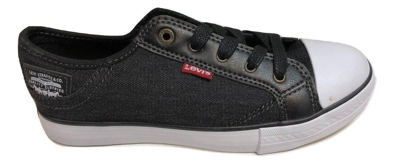 Levi's Boy's Buck C Sneakers Comfort Tech Size 12 (Black Denim)