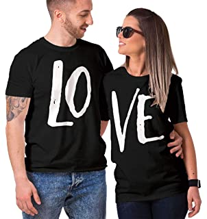 c294032e7b HAASE UNLIMITED Matching Couple Love - LO VE - Valentine T-Shirt