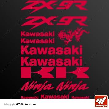 Aufkleber Kawasaki Zx 9r Rot Brett Von 14 Sticker