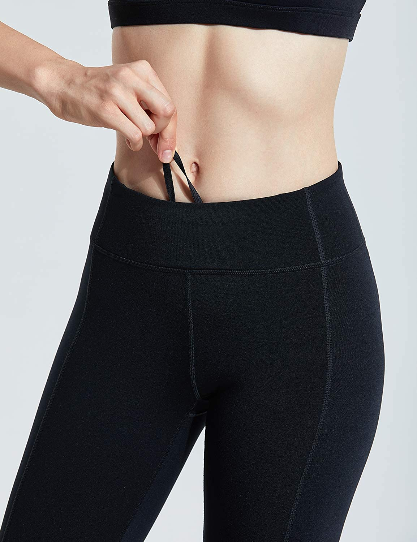 17//25 CRZ YOGA Mujer Lycra Compression Leggings Cintura Alta Deportivos Running Fitness Pantalon con Bolsillo