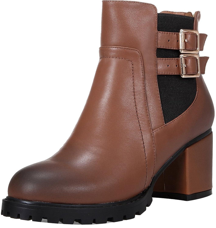 ELEHOT Womens Elecivil 5CM mid-heel Boots