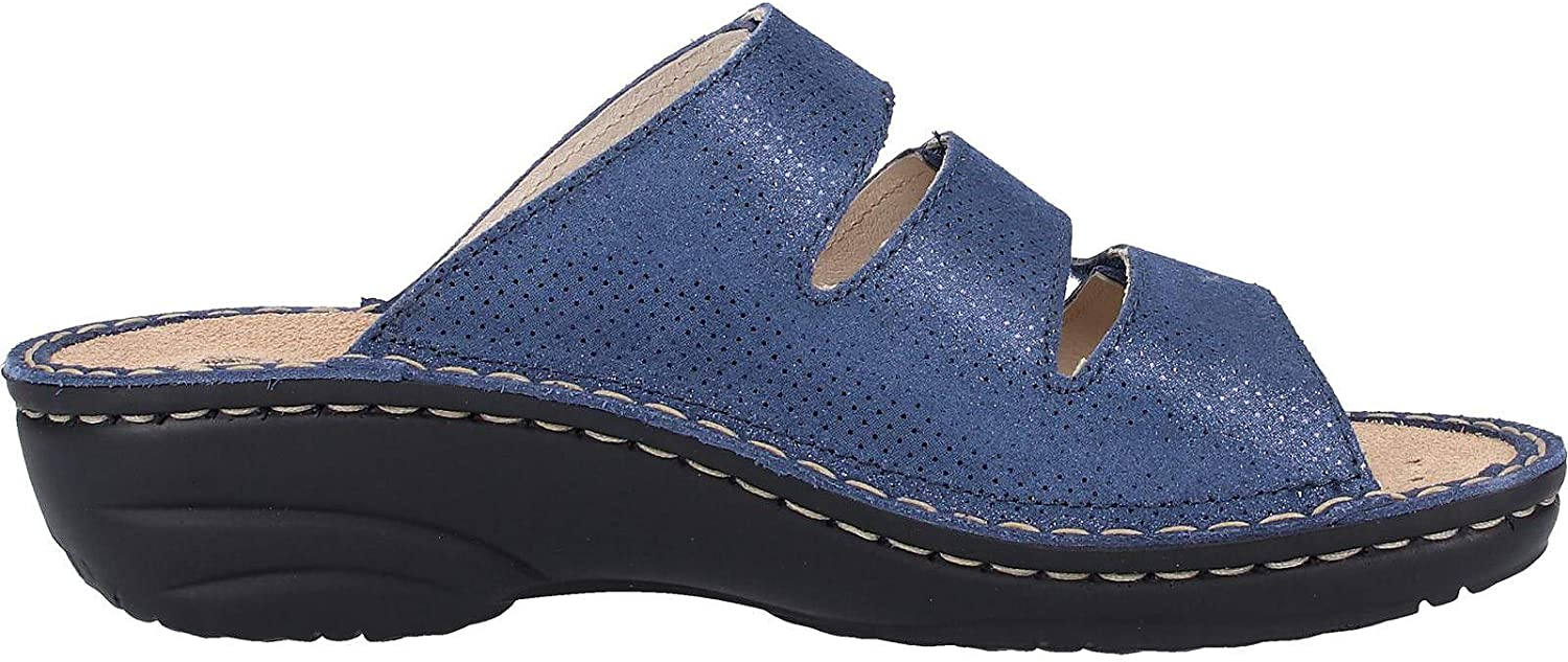 Rohde 5773 Cremona Womens Clogs Change Footbed Blue