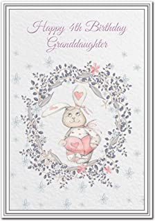 Happy 4th Birthday Granddaughter Card