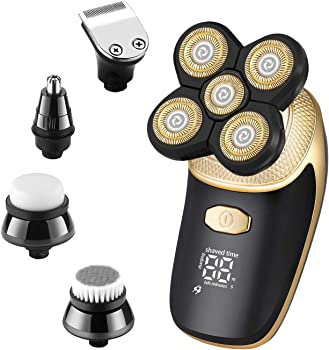 Vsmooth 5 in 1 Electric Bald Head Shaver with USB Rechargeable