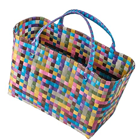 Bolsa de la compra de plástico trenzado Bolsa de playa ...