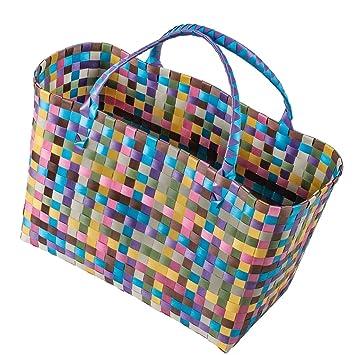 date de sortie: ba31d f8b57 Cabas en plastique tressé sac de plage modèle xL shopper sac ...