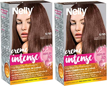 Nelly T/P Nelly 5/95 Marron Chocolate Duplo 3 Unidades 100 ml ...