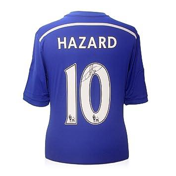 2014-15 Chelsea camiseta de fútbol firmada por Eden Hazard: Amazon.es: Deportes y aire libre