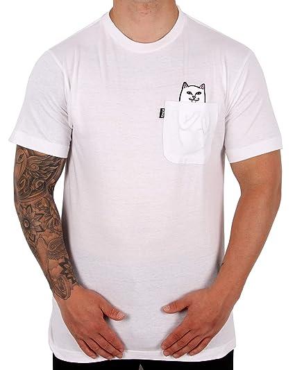 ab4440cd Rip'n'Dip RIPNDIP Lord Nermal Pocket T Shirt - White: Amazon.co.uk: Clothing