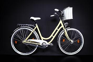 28 Aluminio Bicicleta eléctrica Mujer City bicicleta 7 velocidades ...