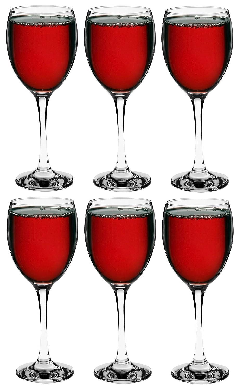 Argon Tableware Red Wine Glasses - Gift Box of 6 Glasses - 340ml (12oz)