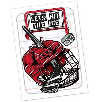 Amazon Com Hockey Birthday Party Invitations For Kids 20 Count