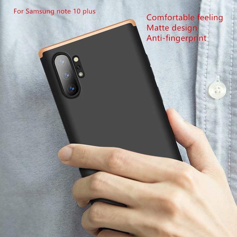 2*Protecci/ón Flexible de Pantalla HD AILZH Compatibles para Funda Samsung Galaxy Note 10 Carcasa+ Plata Negro 360 Grados Caja protecci/ón de c/áscara Dura Anti-Shock Caso Antichoque Bumper Case Cover