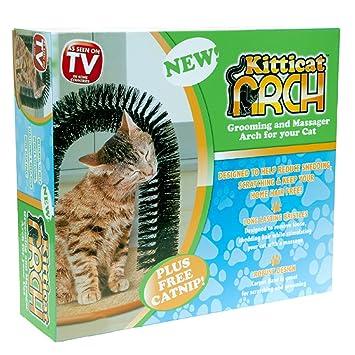 Kitticat Gato Rascador Arco Kitten Masaje Mascota Auto Higiene Cerda Peluquería Juguete: Amazon.es: Productos para mascotas