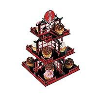 Ninja Cupcake Stand (3 tiers) Ninja Birthday Party Supplies