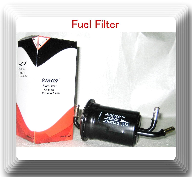 Amazon.com: Brand Vigor GF55356 In-Line Fuel Filter Fits: (Kia Sephia  1998-2001) (Kia Spectra 2000-2004) (2): Automotive