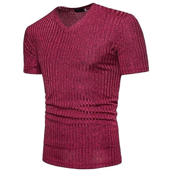 Logobeing Camisetas Hombre Blusa de Hombre de Moda de Manga Corta Camisa de Polo de Corte