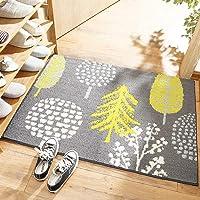 Floor Door Mat Household Entrance Doormat Non-Slip Foot Pad Mats Washable Floor Carpet for Living Room Bathroom(45…
