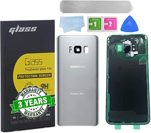 All The Adhesive and Professional Repair Tool Kits Plus G955 All Carriers with Pre-Installed Camera Lens Blue Back Cover Glass Replacement for Samsung Galaxy S8