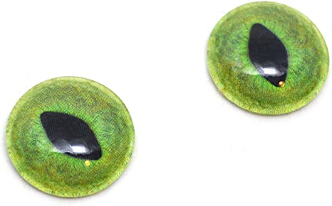 Glass Doll Eyes 16mm Pale Green Cat Realistic Animal Eye Jewelry Taxidermy Art