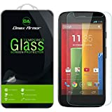 Moto G (1st Gen) Glass Screen Protector, Dmax Armor [Tempered Glass] 0.3mm 9H Hardness, Anti-Scratch, Anti-Fingerprint, Bubble Free, Ultra-clear