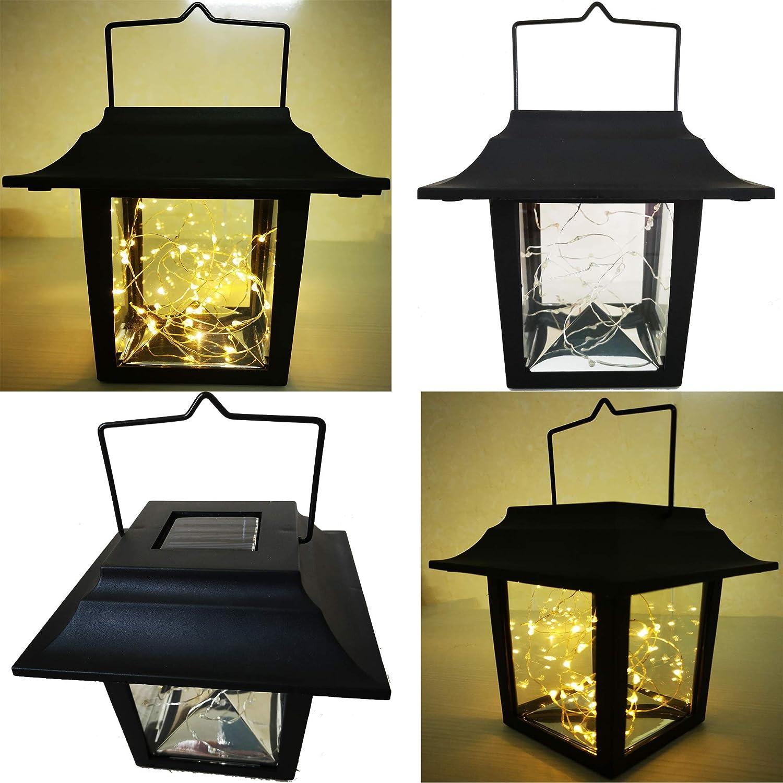 Amazoncom Mason Jar Art Solar Hanging Lanterns Lights, 2 Pack