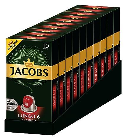 Jacobs Lungo Classic 6 Nespresso Compatible Las cápsulas*(10 x 10 Las cápsulas)