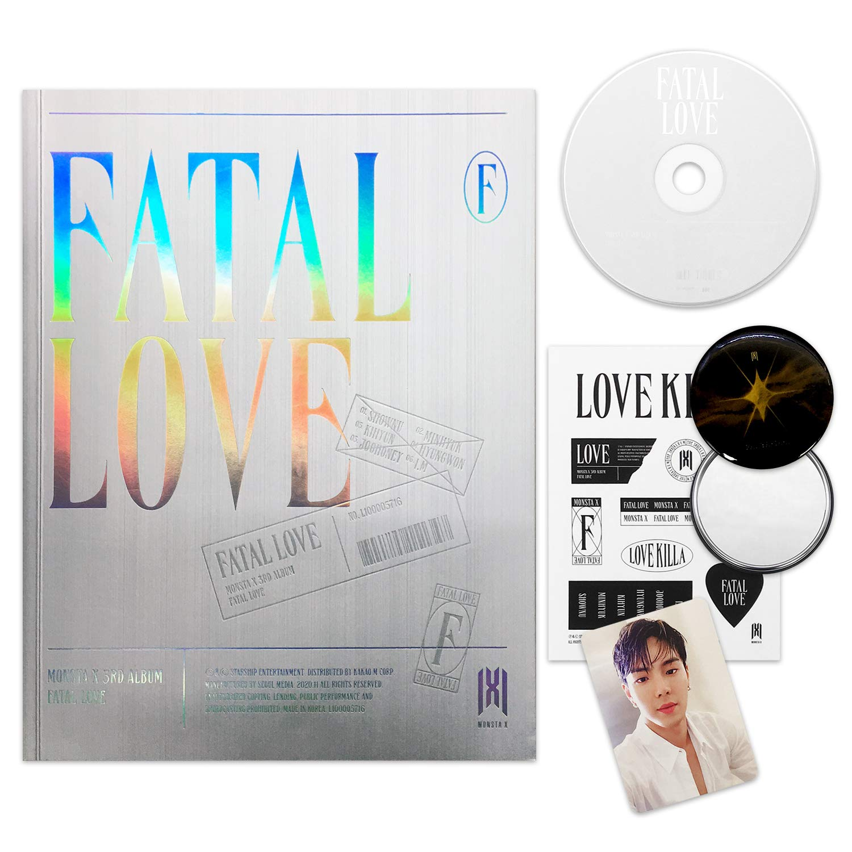 MONSTA X 3rd Album - FATAL LOVE [ Ver. 4 ] CD + Photo Book + Sticker + Photo Card + OFFICIAL POSTER + FREE GIFT / K-pop Sealed