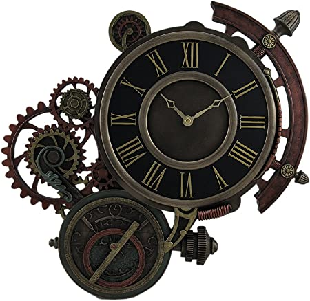 Horloge murale mécanique steampunk astrolabe traqueur d'étoiles 43 ...