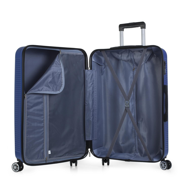 Candado Peque/ña Cabina Ryanair Duras C/ómodas Resistentes y Ligeras Color Azul Mediana y Grande Juego Maletas de Viaje R/ígidas 4 Ruedas Trolley Set 55//67//76 cm ABS T72000 ITACA