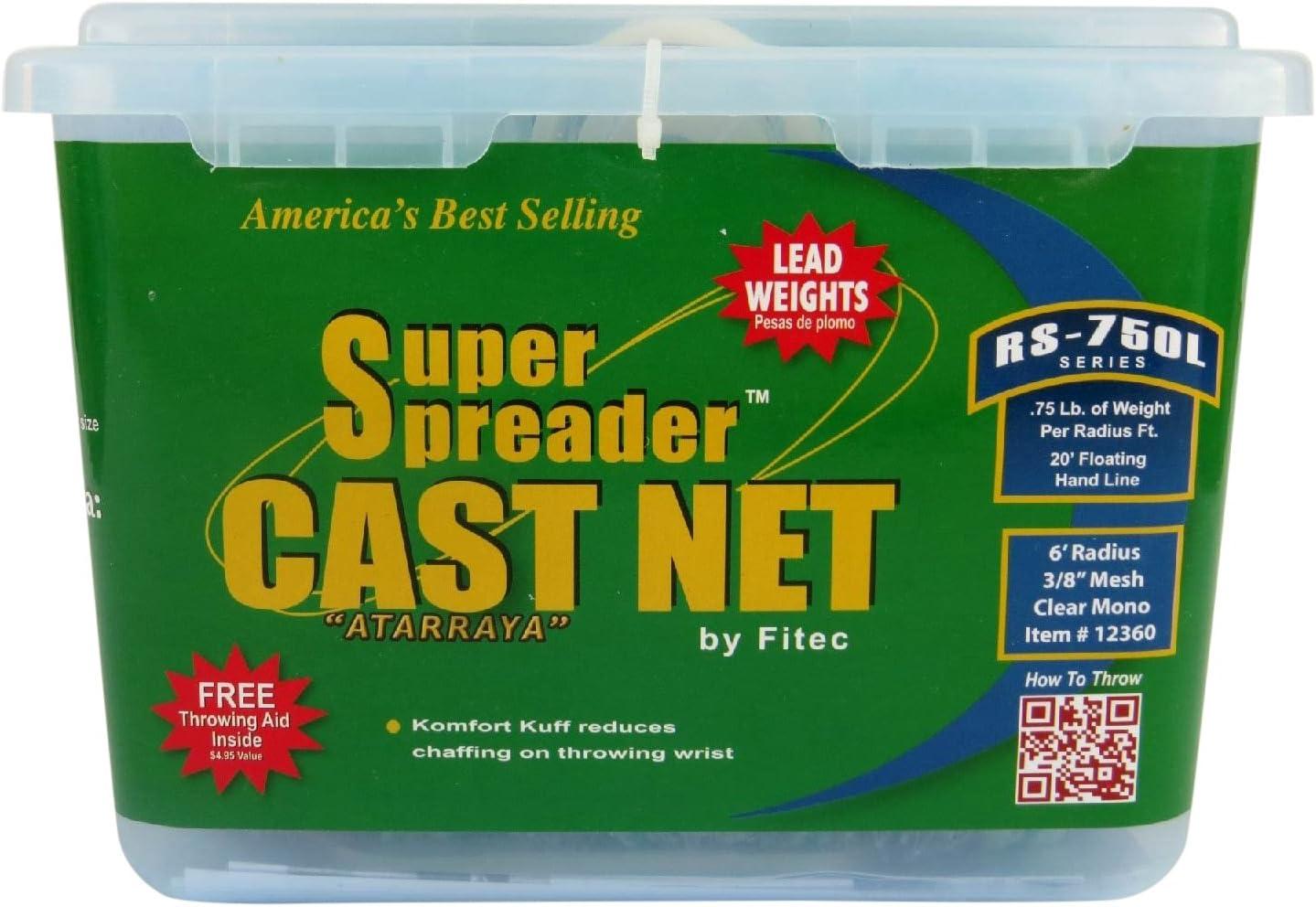 Fitec RS750L Super Spreader Cast Net