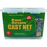 """Fitec RS750-L Super Spreader Cast Net Clear 7' Radius, 3/8"""" mesh, 3/4 Lb Lead WTS"""