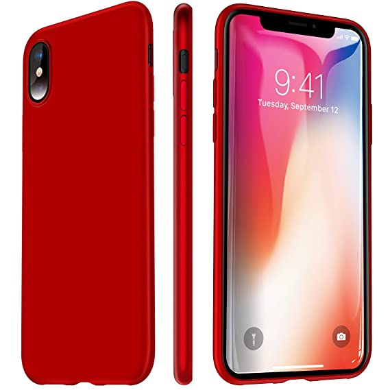Giveaway iphone x silicone case - rose red