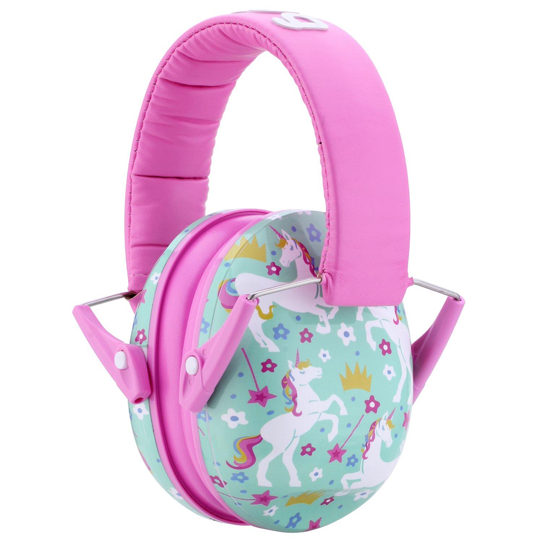 Snug Kids Earmuffs/Best Hearing Protectors - Adjustable Headband Ear Defenders for Children and Adults (Unicorns) by Snug