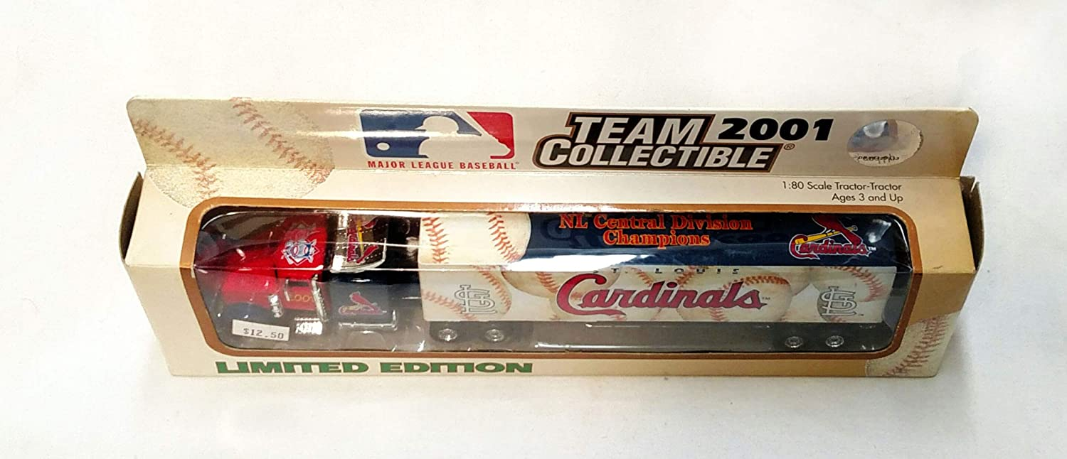 St Louis Cardinals 2001 Limited Edition Die Cast Tractor Trailer Collectible