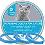 Wustentre Cat Calming Collars 3 Pack, Pheromone Calming Collar for Cats, Natural, Adjustable, Waterproof Relieve Cat Anxiety