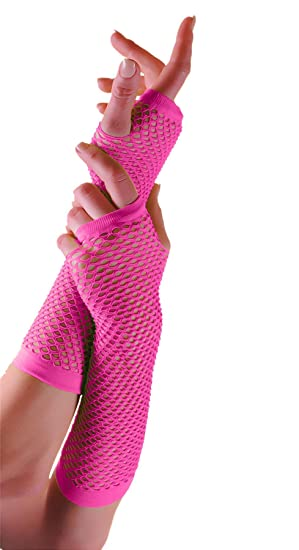 Pink Long Gloves