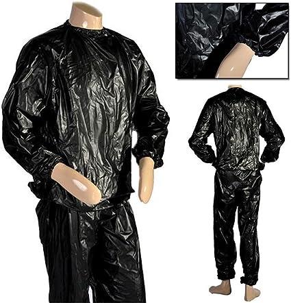 Traje sauna negro para sudar de JJOnlinestoreparapérdida de peso en todo el cuerpo, fitness, gimnasio, ejercicio, interiores y exteriores, talla única