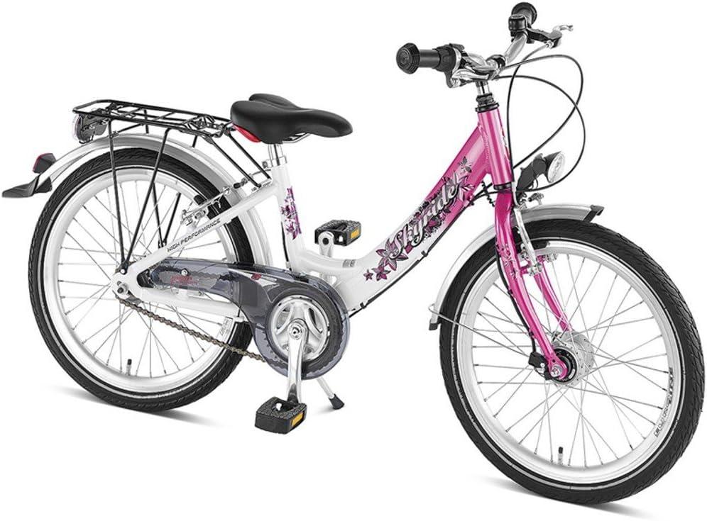 Puky Skyride 20 – 3 – Bicicleta Infantil, Aluminio, White/Pink, 20 ...
