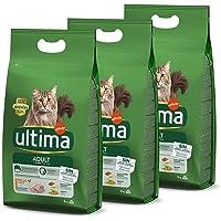 Ultima Pienso para Gatos Adultos con Pollo - 3 x 3kg: Total 9kg