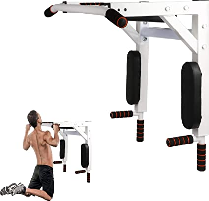 Gym Pull Up Bar Exercise Bar Heavy Duty Wall Chin Up Bar Mounted Home Workout