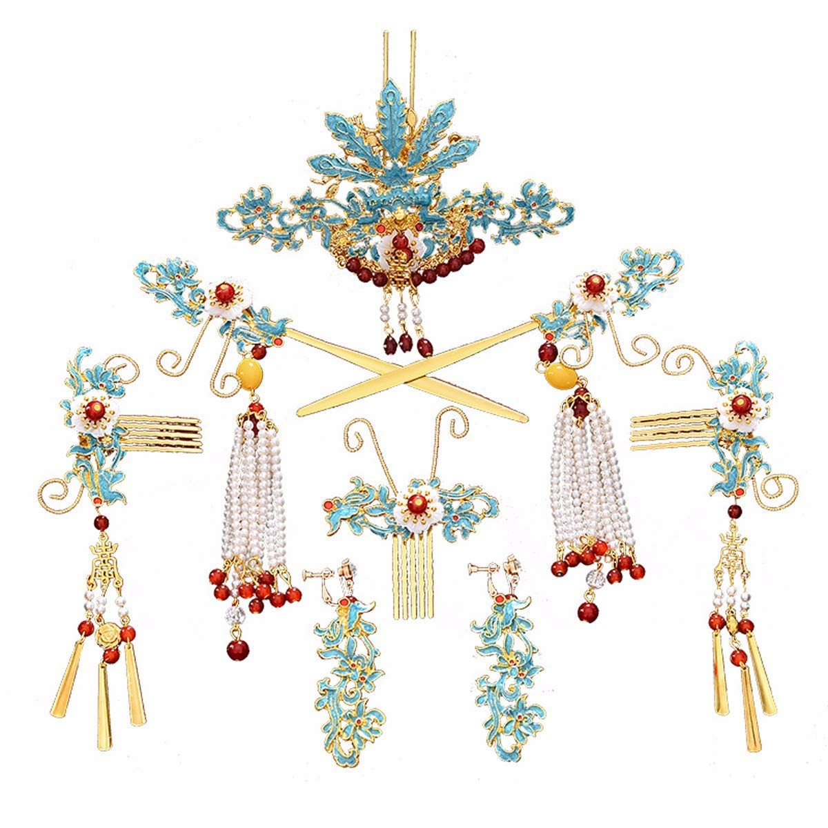 Girls Crown, Beautiful headdress/Wedding Dress Headgear Chinese Ancient Costume Wedding Accessories Wedding Toast Phoenix Crown Ornaments. by Zehaer (Image #1)