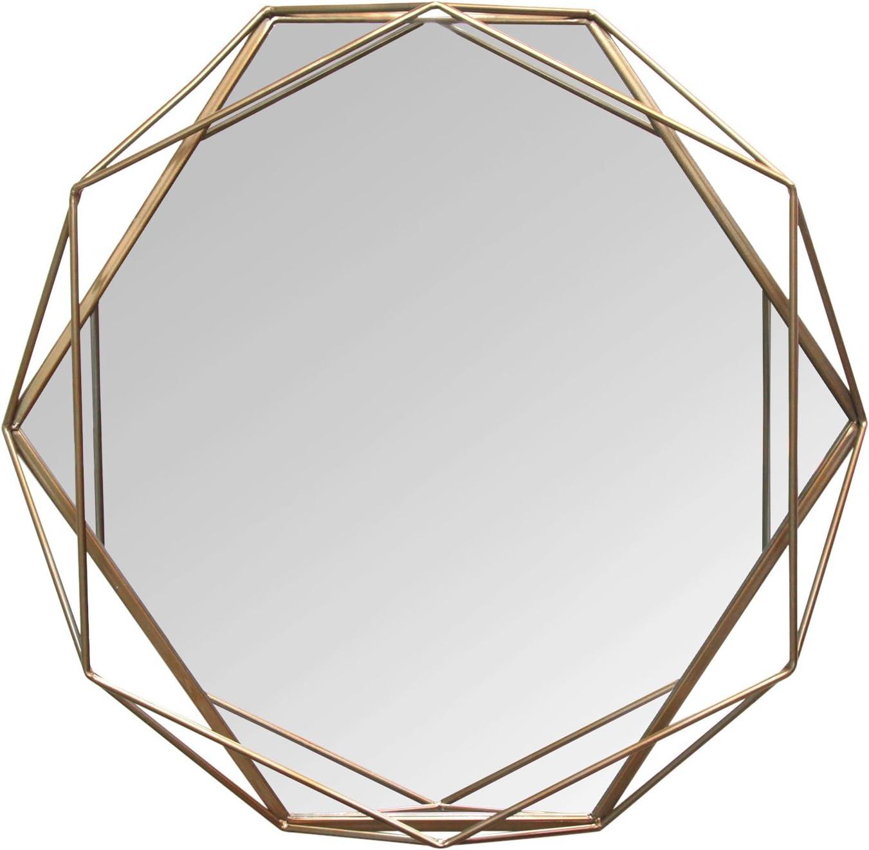 Stratton Home Décor S11541 Chloe Wall Mirror, 31.50 W X 3.15 D X 29.53 H, Gold