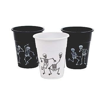 Amazon.com: Vasos desechables para Halloween con esqueleto ...